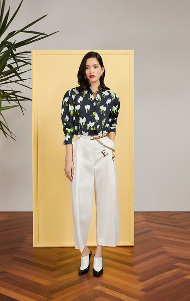 ESCADA Cotton Floral Blouse