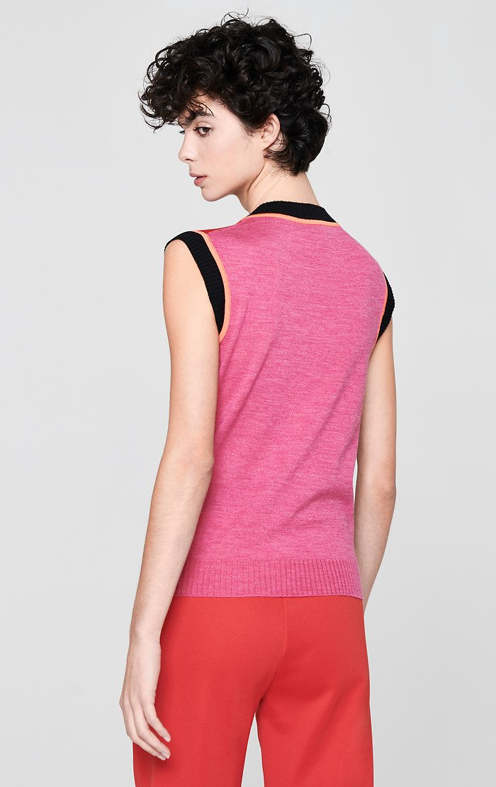 ESCADA Wool Color Block Top