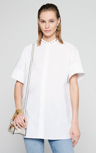 ESCADA Cotton Poplin Short-Sleeve Shirt