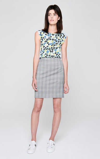 ESCADA Wool Check Pencil Skirt