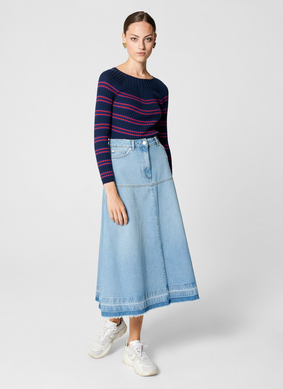 Virgin Wool Stripe Sweater - ESCADA ?id=16464456155268