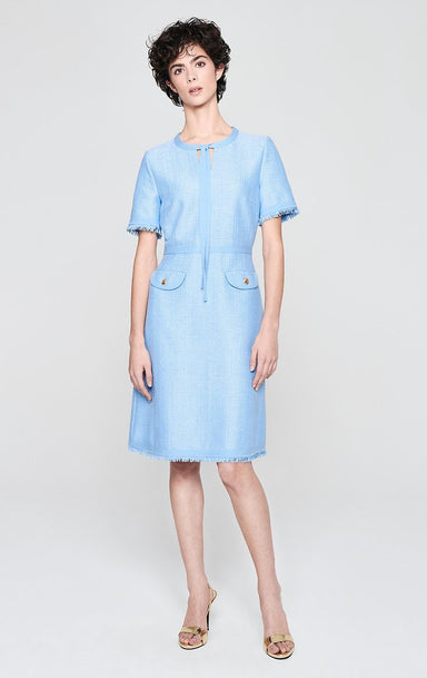 ESCADA Cotton Blend Tweed Dress