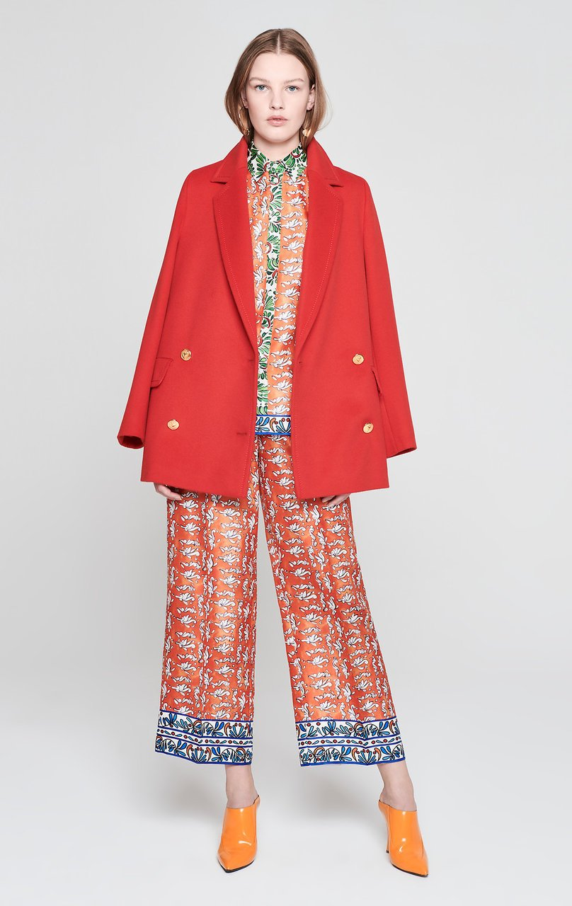 ESCADA Silk Printed Wide Leg Pants