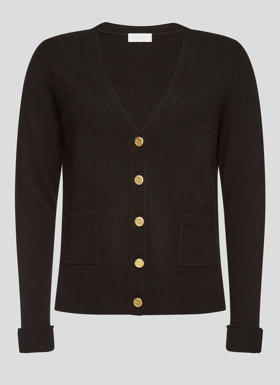 ESCADA Wool Cashmere Studded Cardigan