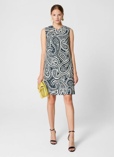ESCADA Cotton Stretch Paisley Dress