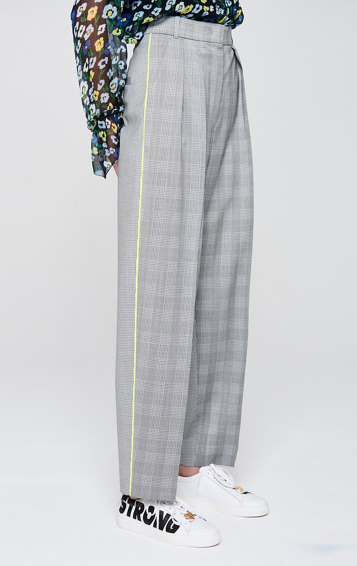 Wool Check Pleated Pants - ESCADA ?id=16179941769348