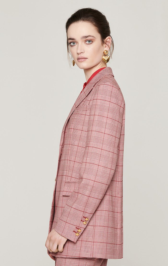 Virgin Wool Check Blazer - ESCADA ?id=16183837622404