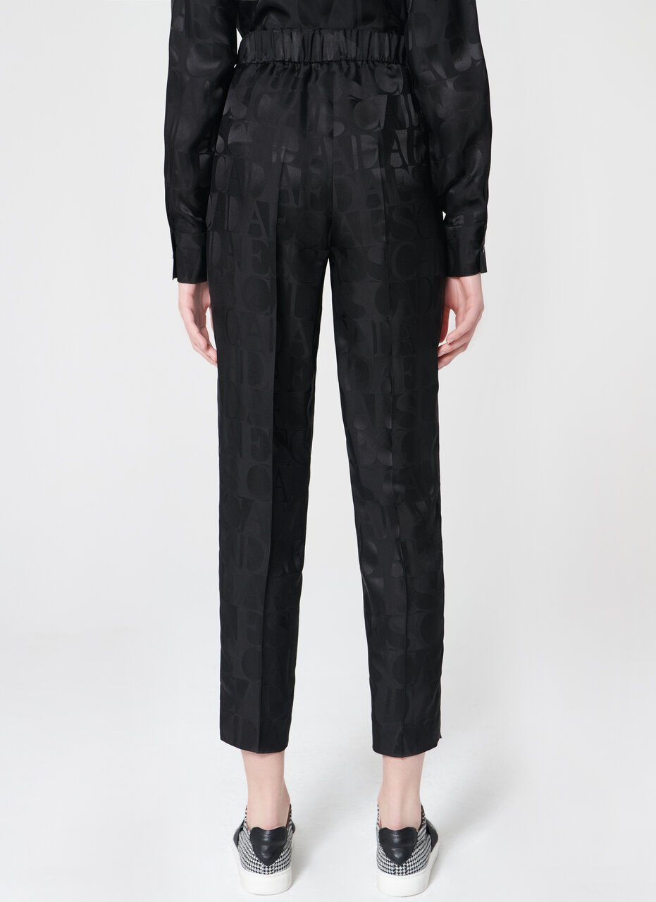 ESCADA Slip on silk mix logo pant