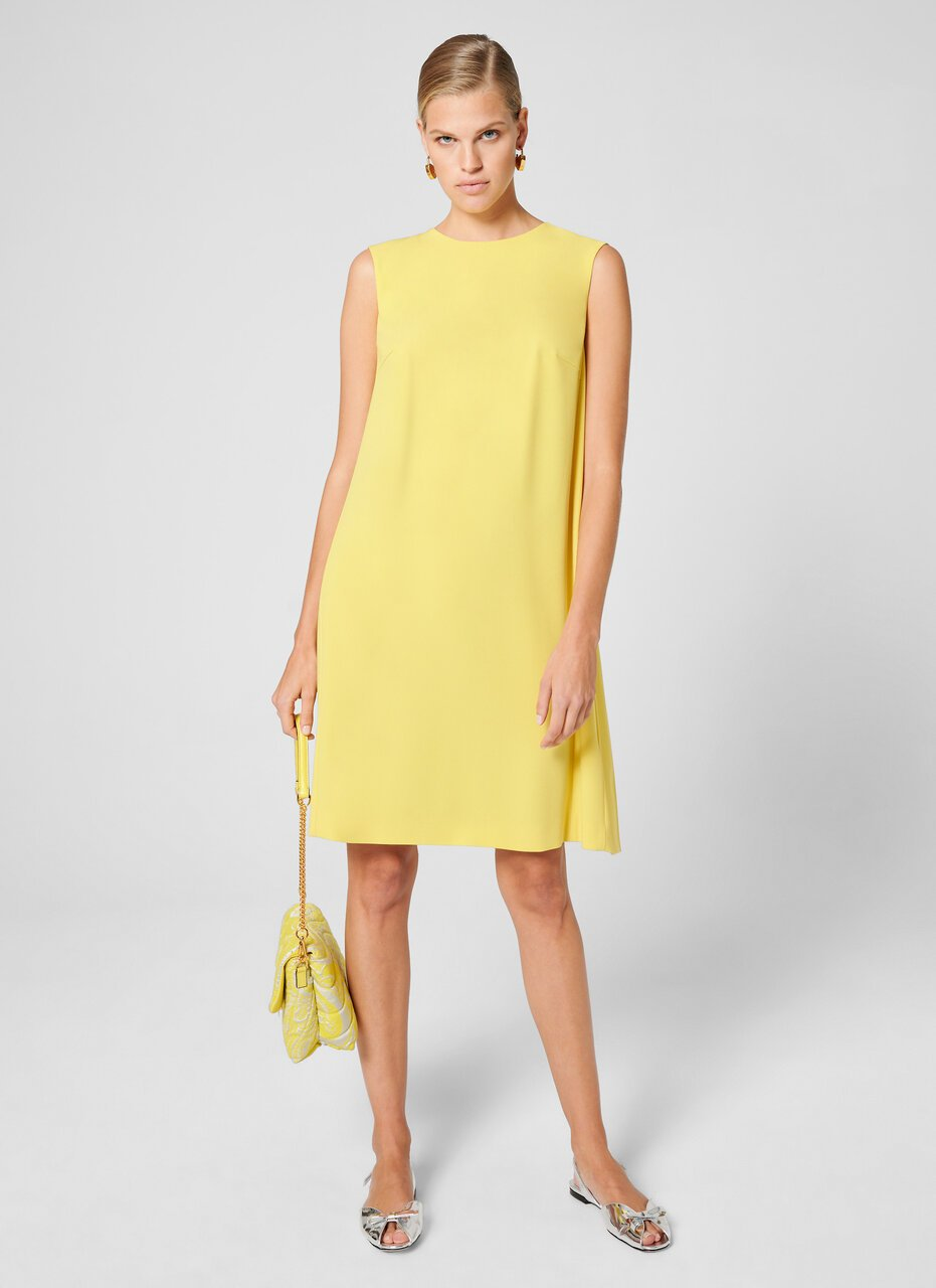 ESCADA Crepe Plissé Shift Dress