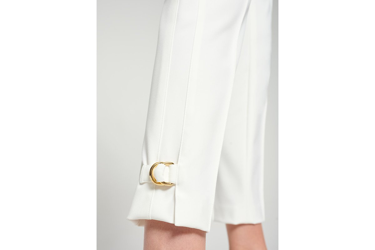 ESCADA Slim Buckle Detail Pants