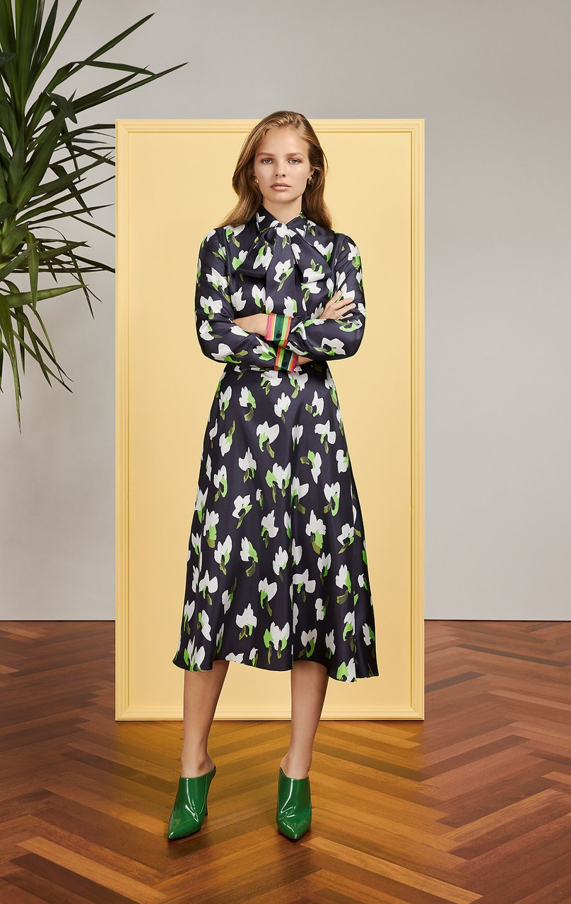 Silk Floral Shirt Dress - ESCADA ?id=16179932299396