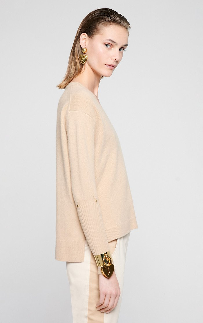 ESCADA Wool Cashmere V-Neck Sweater