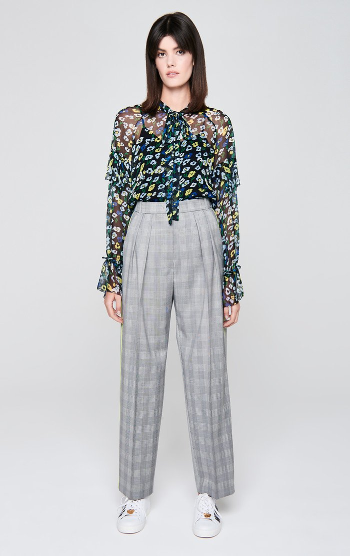 Wool Check Pleated Pants - ESCADA ?id=16179941343364