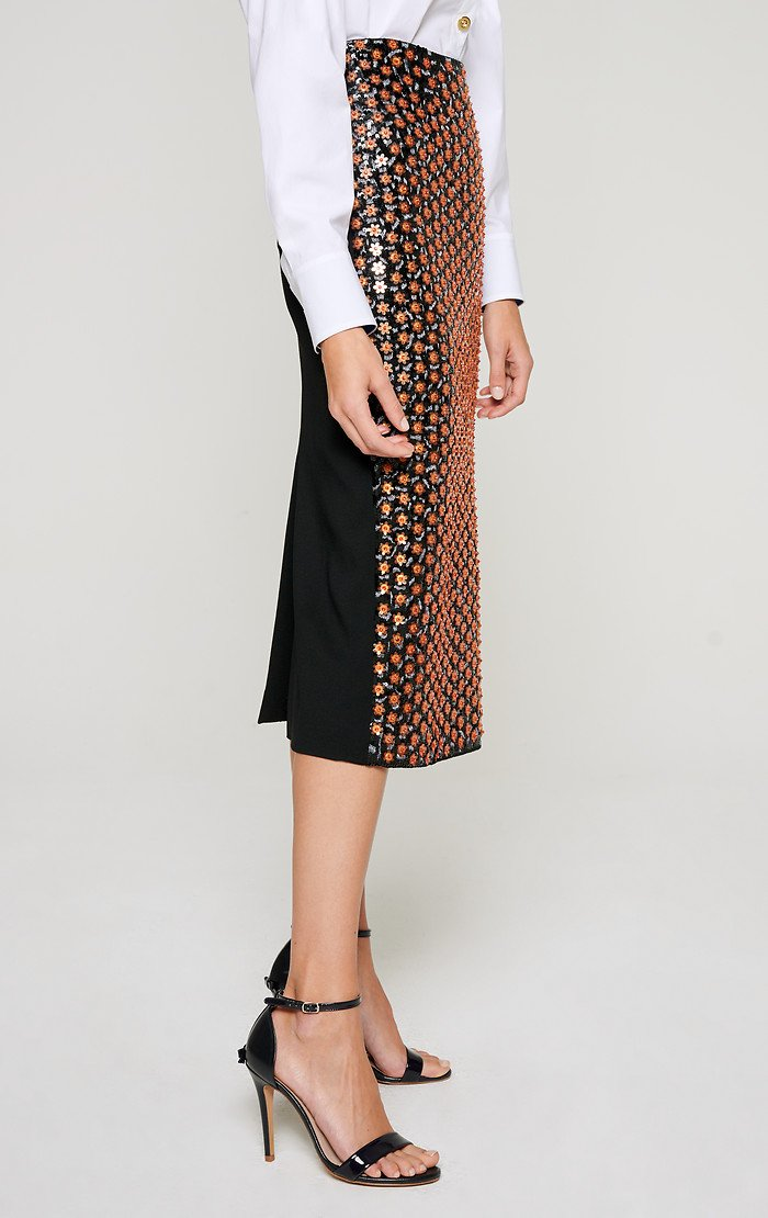 ESCADA Embroidered Pencil Skirt