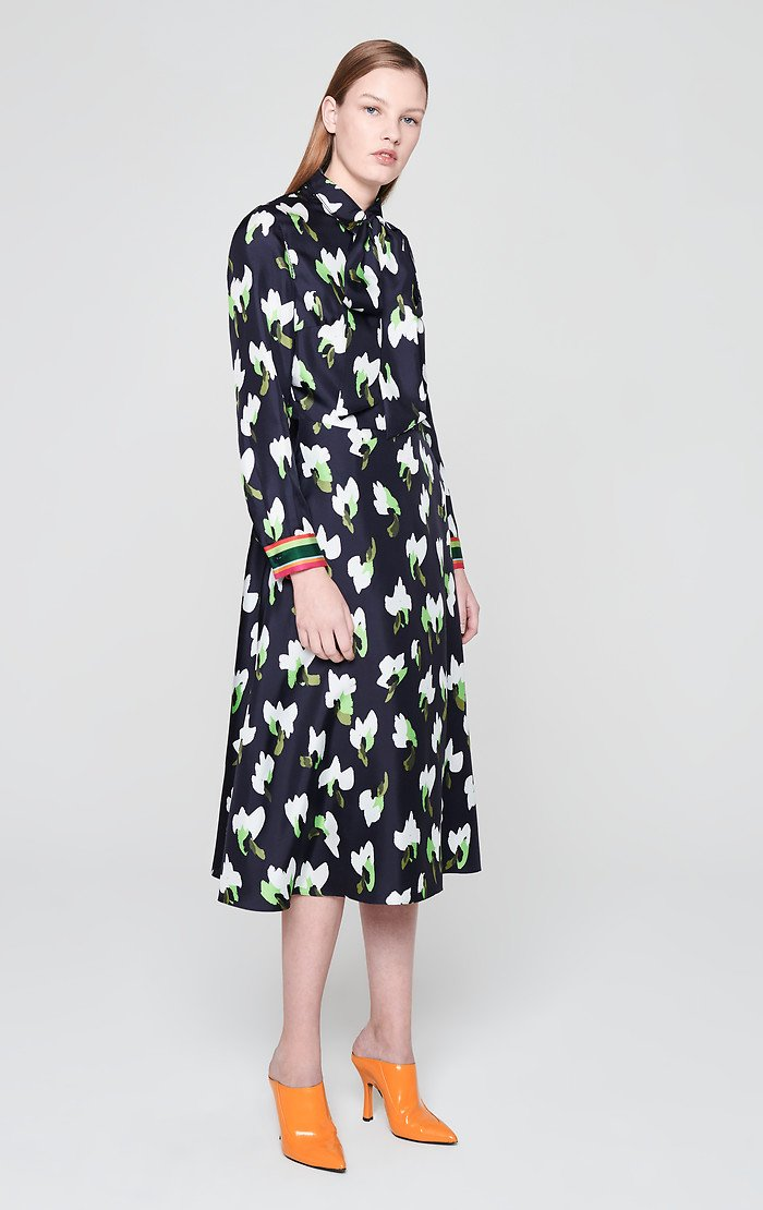 Silk Floral Shirt Dress - ESCADA ?id=16179932266628