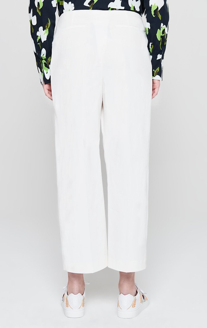 ESCADA Cotton Pleated Wide Leg Pants