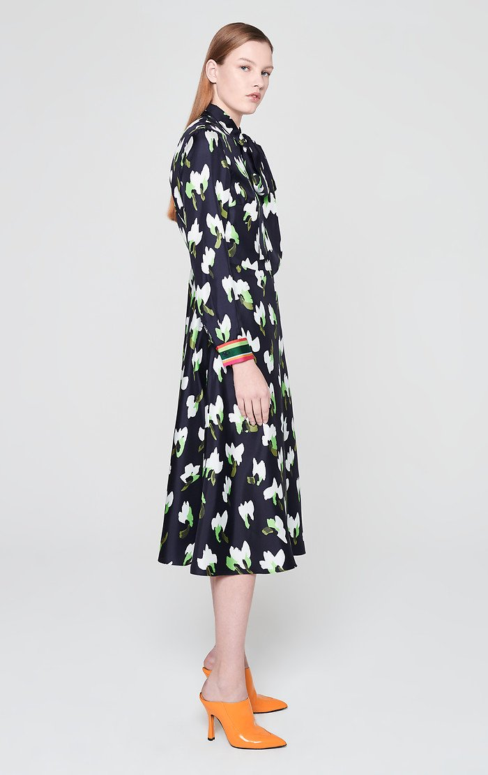 Silk Floral Shirt Dress - ESCADA ?id=16179932397700