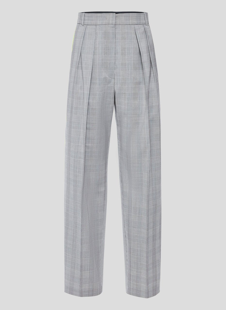 Wool Check Pleated Pants - ESCADA ?id=16179942097028