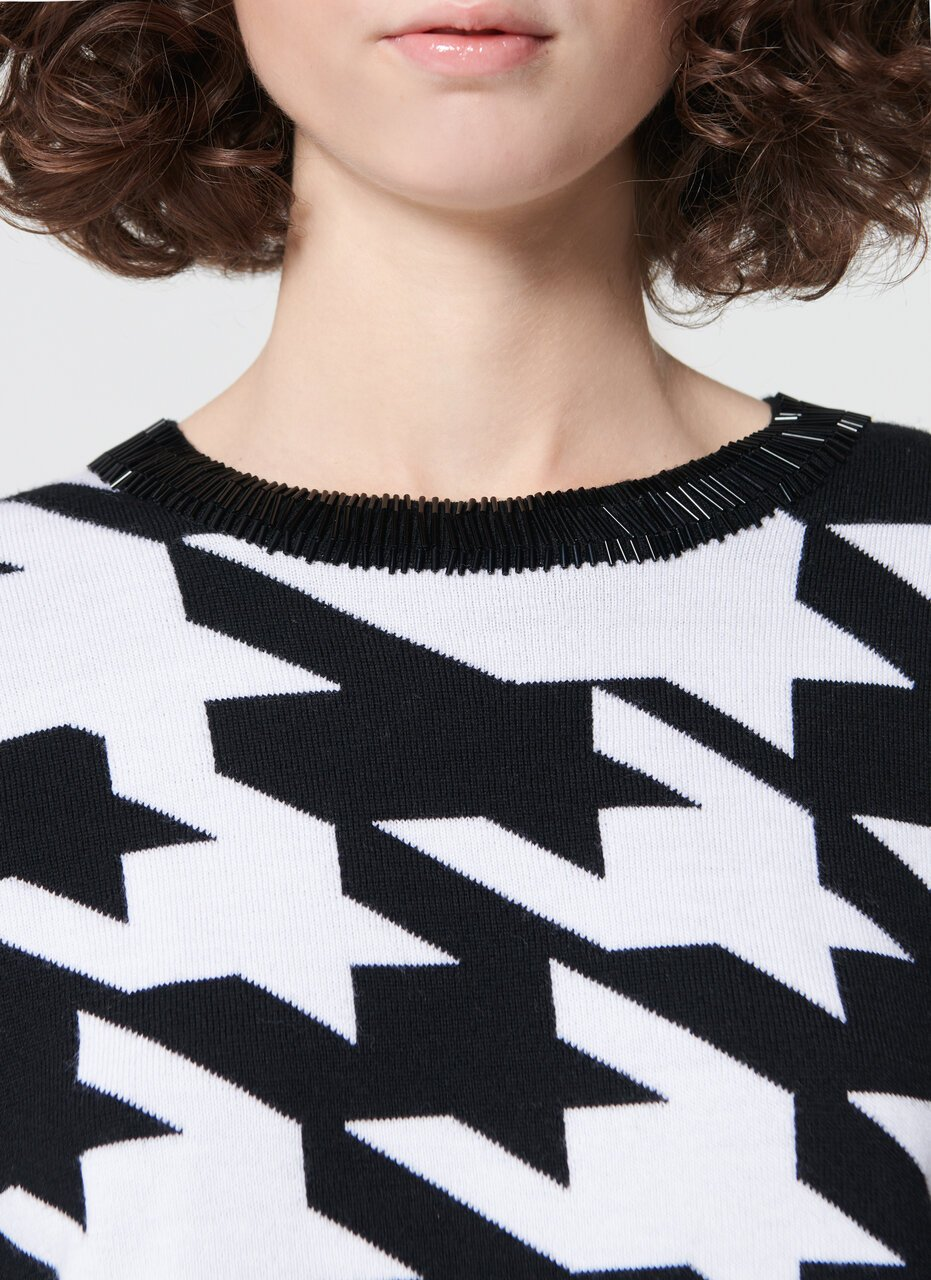 ESCADA Embroidered wool jacquard pullover