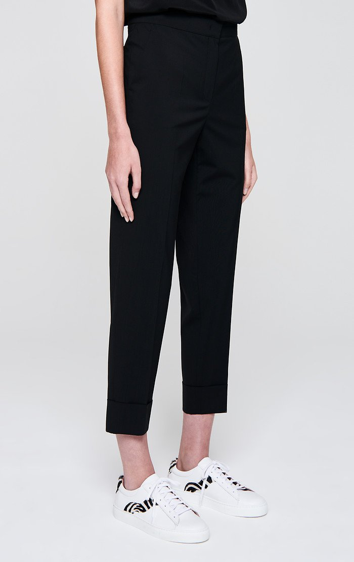 Virgin Wool Cropped Pants - ESCADA ?id=16179933347972