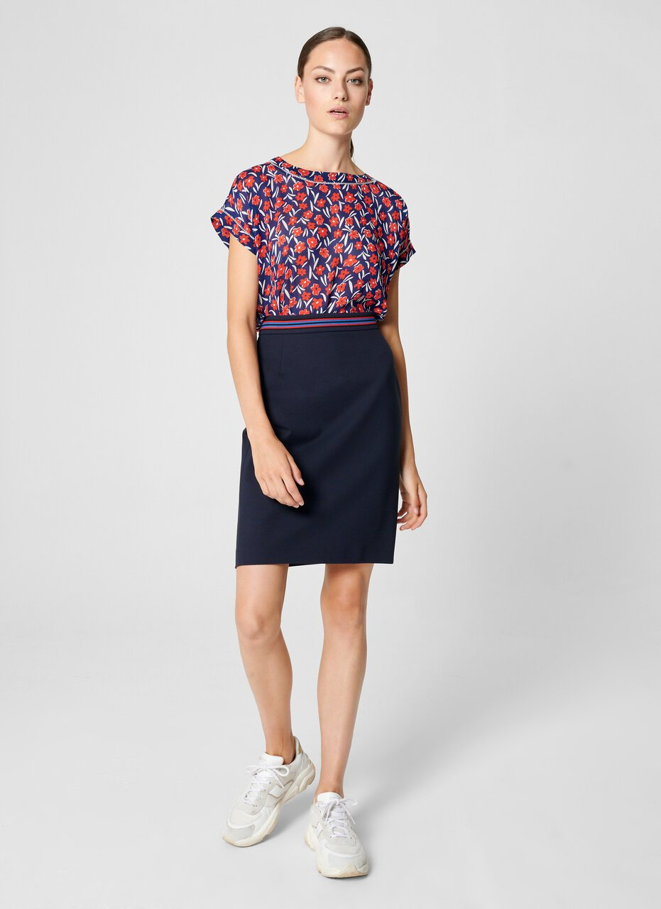 Floral Cap-Sleeve Top - ESCADA