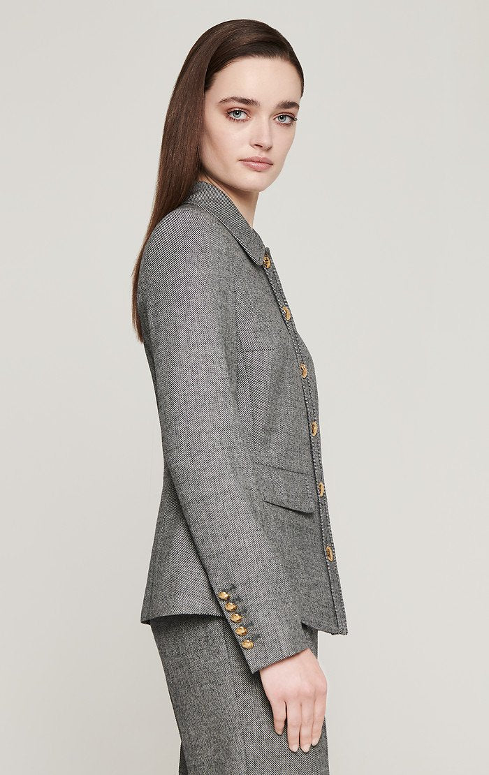 ESCADA Virgin Wool Houndstooth Jacket