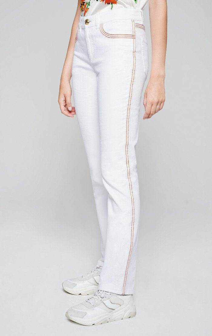 ESCADA Contrast Trim Straight Jeans