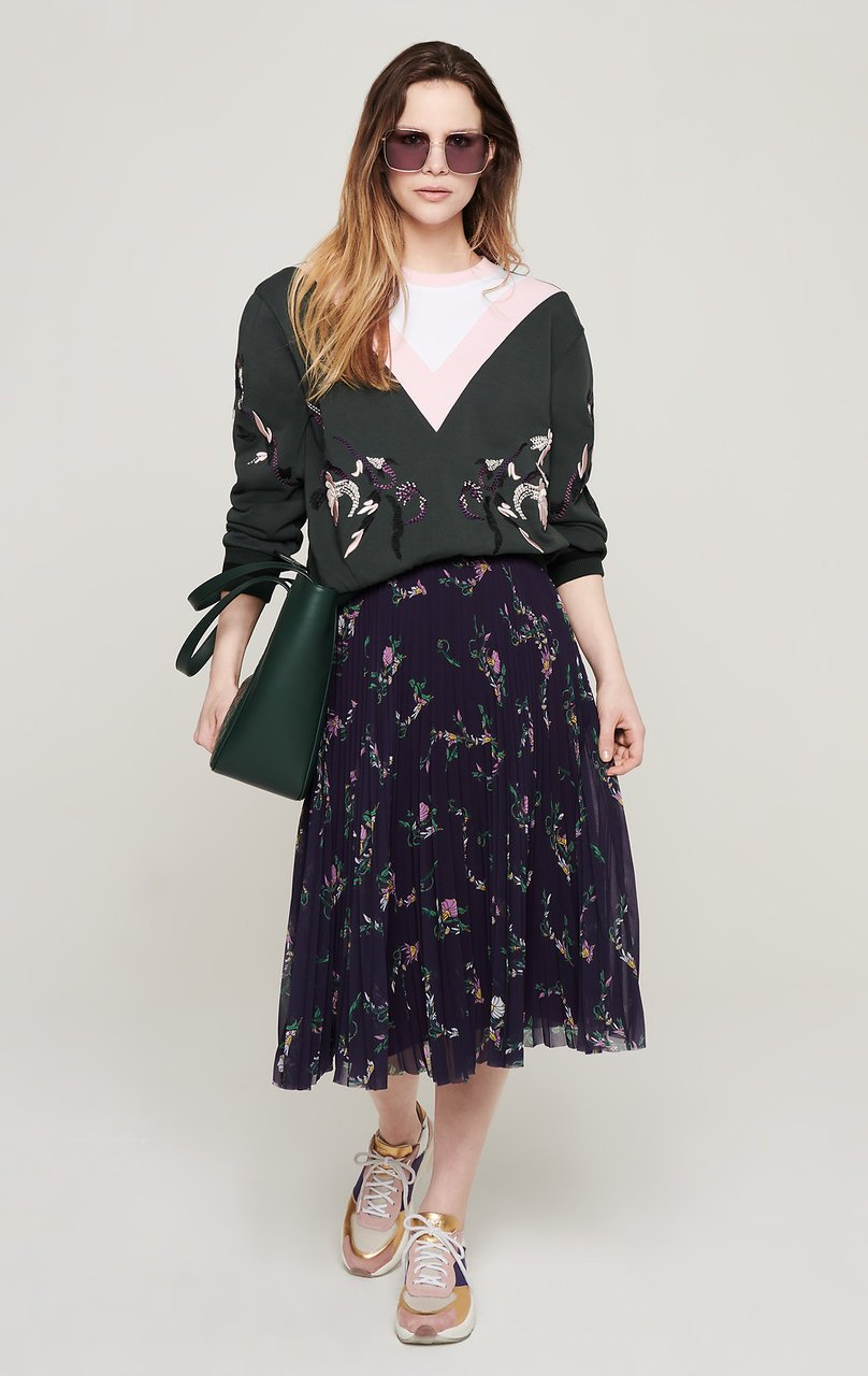ESCADA Floral Embroidered Sweatshirt