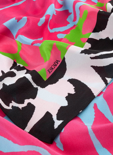 ESCADA Printed silk flower scarf