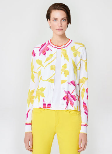 ESCADA Cotton Blend Floral Cardigan