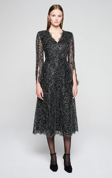 ESCADA Corded Lace Midi Dress