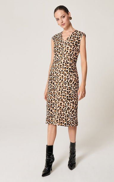 ESCADA Jersey Printed Midi Dress