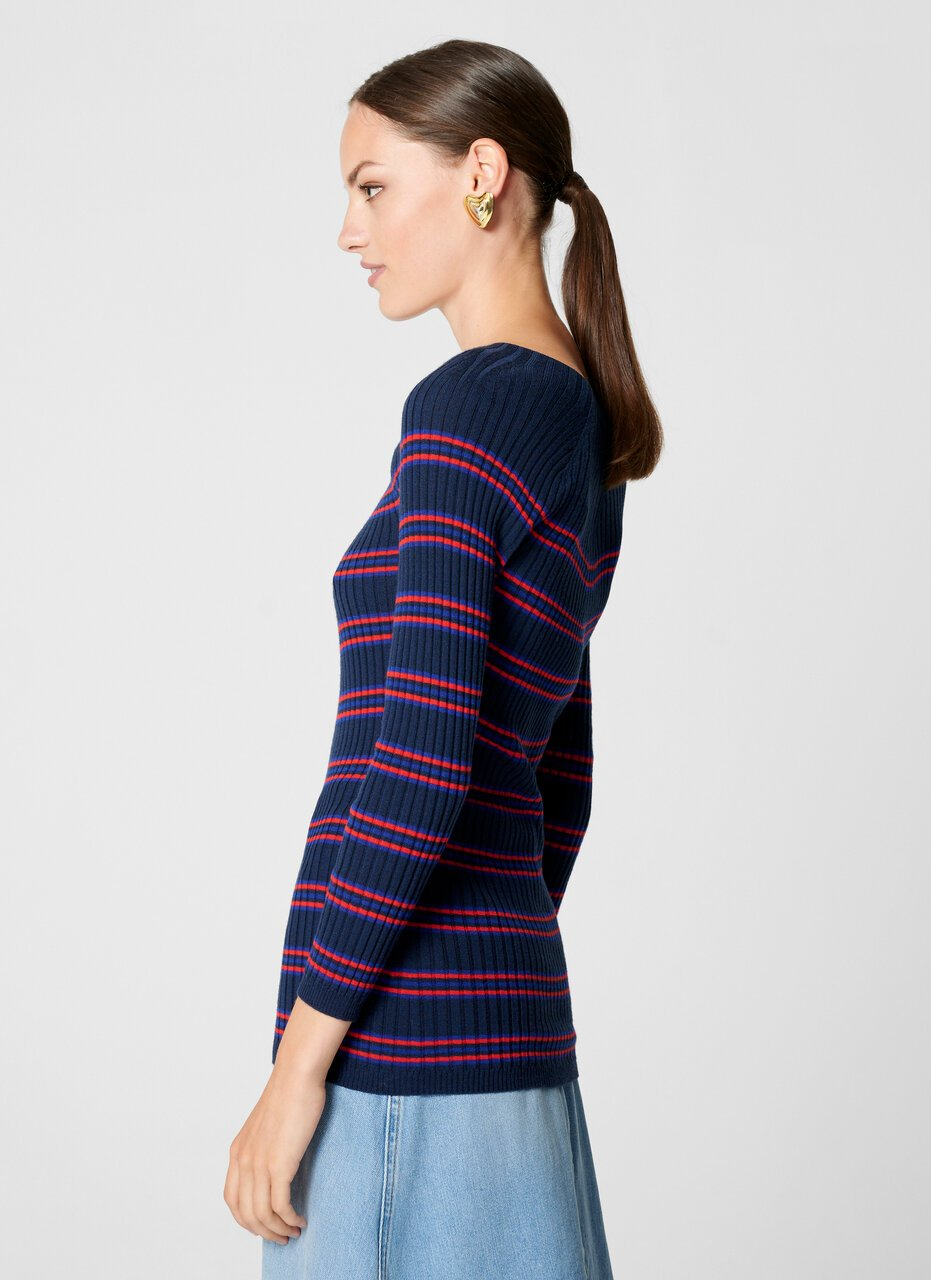 Virgin Wool Stripe Sweater - ESCADA ?id=16464456188036