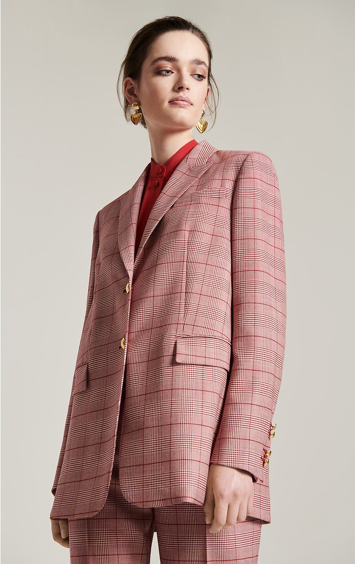 Virgin Wool Check Blazer - ESCADA ?id=16183837655172
