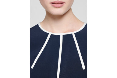 ESCADA Contrast Paneled Jersey Dress