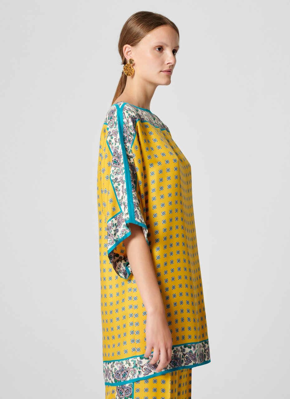 ESCADA Silk Foulard Print Tunic Top