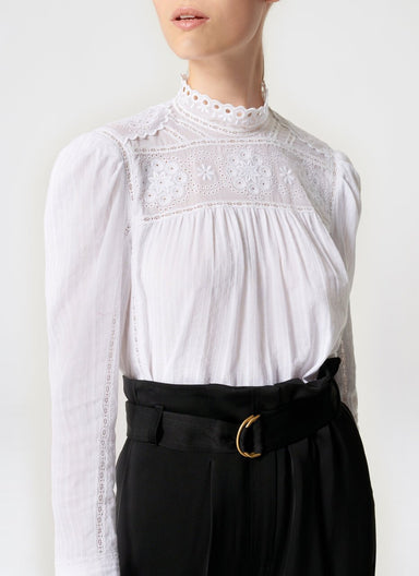 Cotton Broderie Blouse - ESCADA ?id=16464452026500