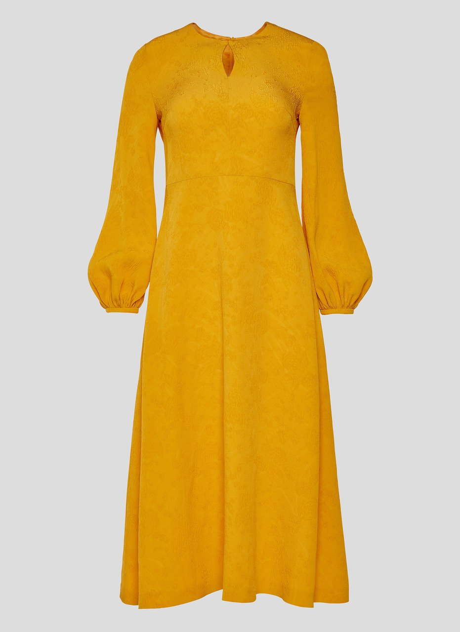 ESCADA Jacquard Puff Sleeve Dress