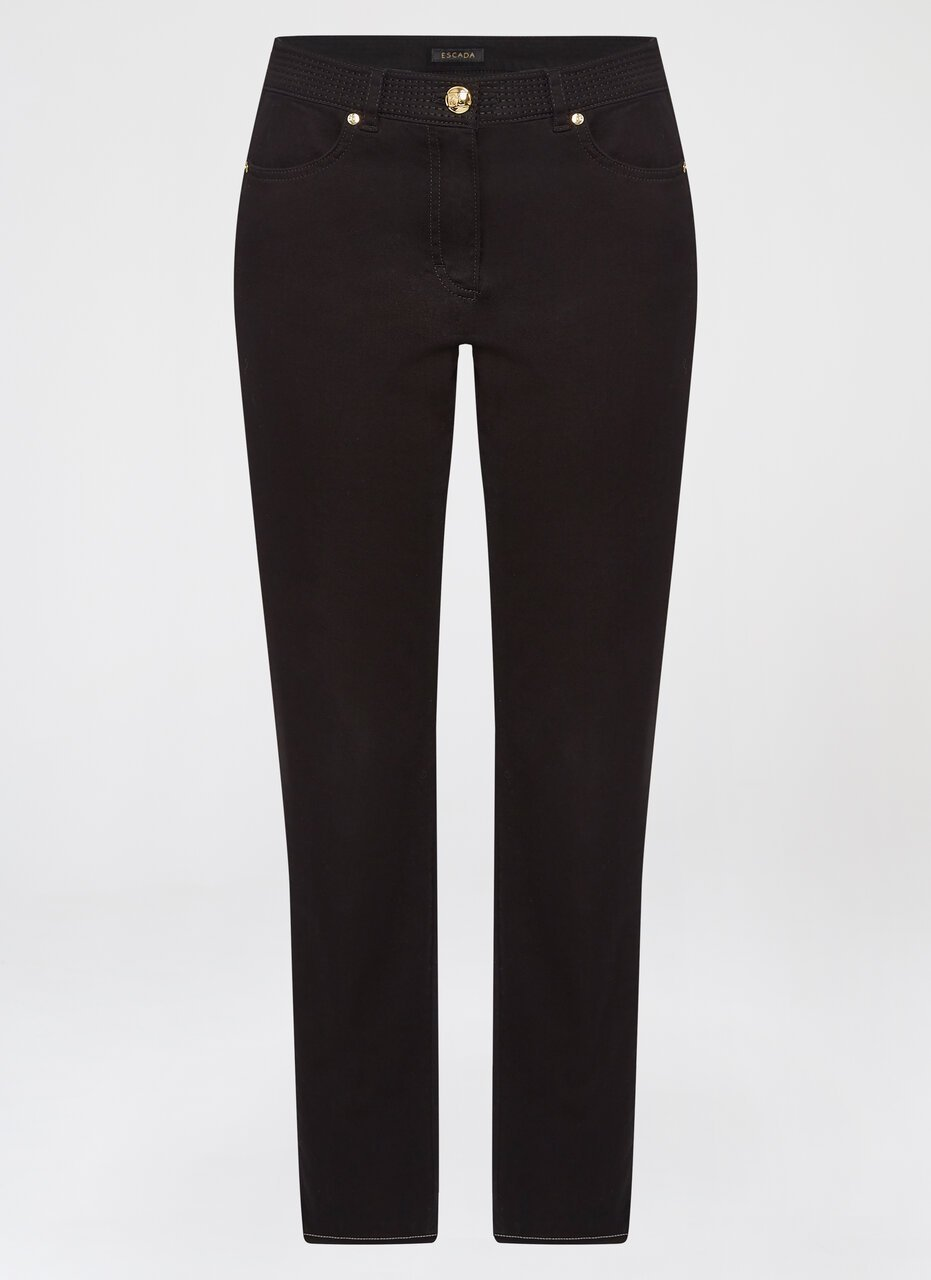 Dark denim with tuxedo stitching - ESCADA