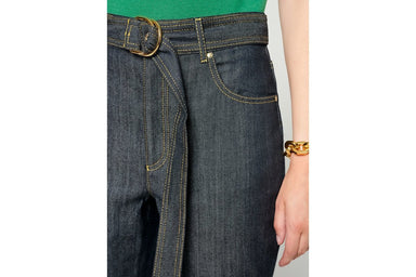 ESCADA Belted Straight Jeans