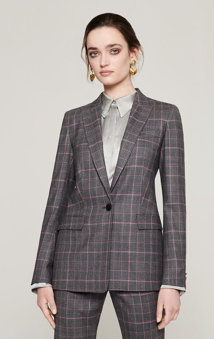 ESCADA Wool Stretch Check Blazer