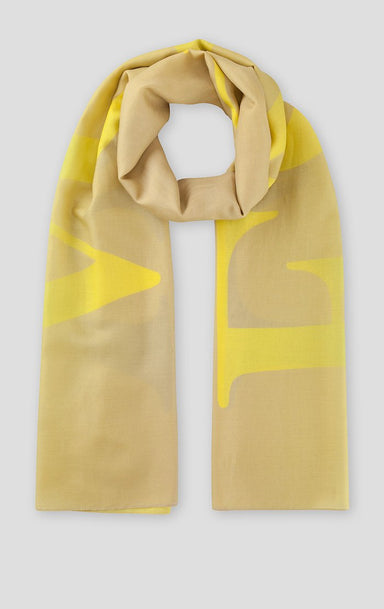 ESCADA Cotton Silk Logo Scarf