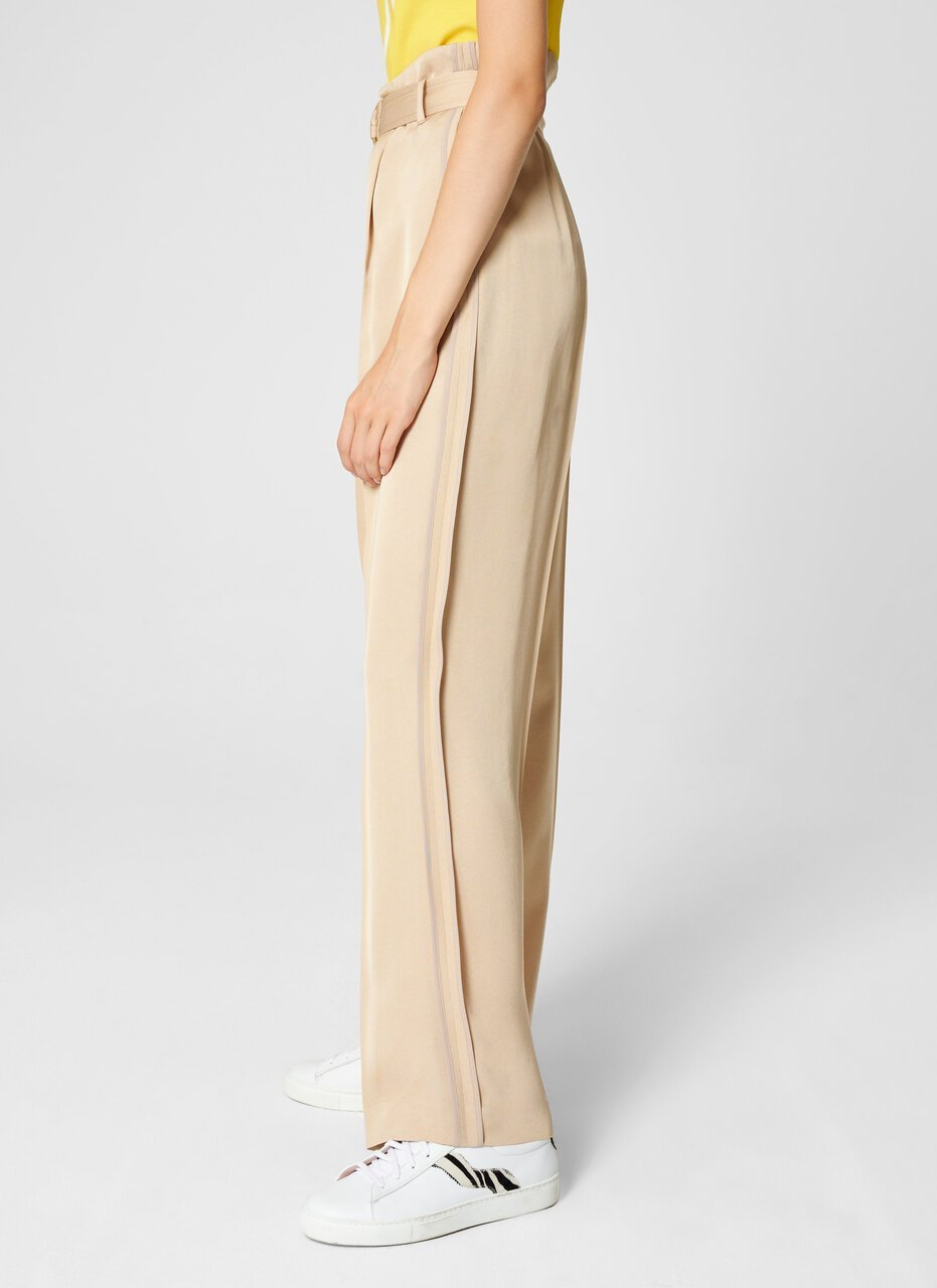 Crepe Belted Wide-Leg Pants - ESCADA ?id=16464465690756