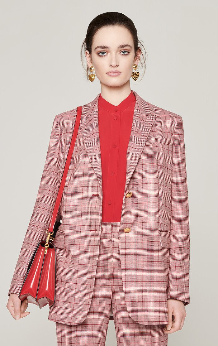 Virgin Wool Check Blazer - ESCADA ?id=16183837556868