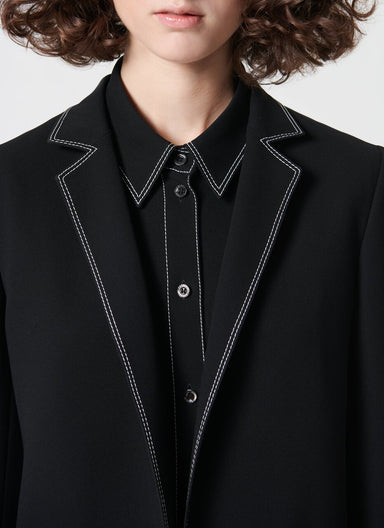 Casual blazer with contrast stitching - ESCADA ?id=16490178347140