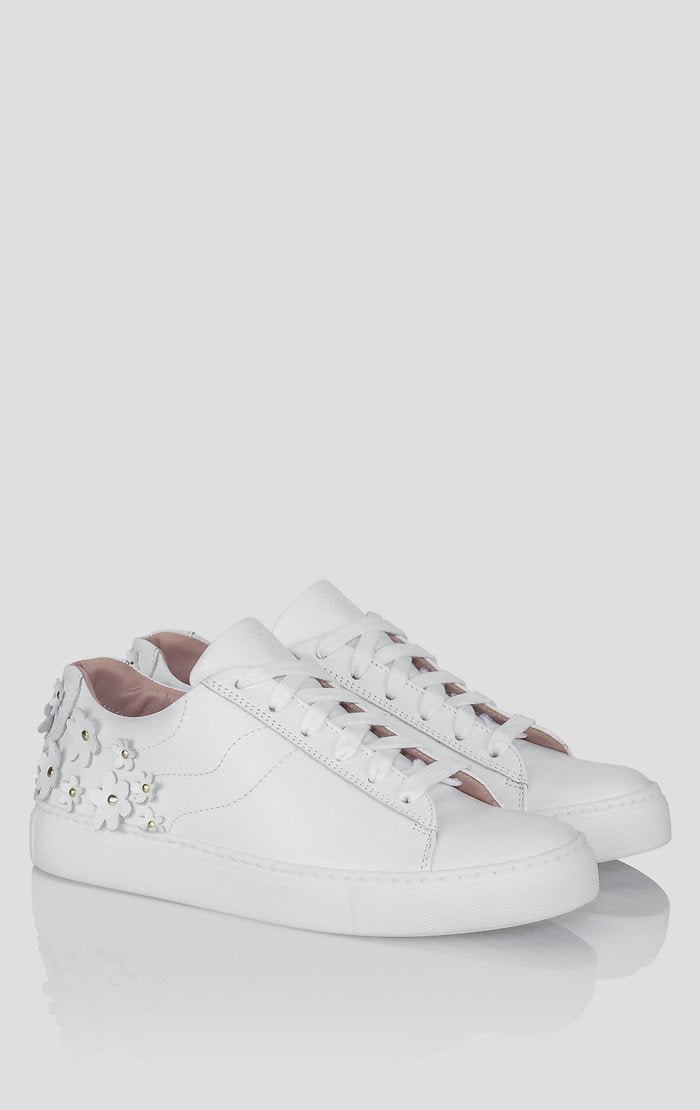 ESCADA Embellished Leather Sneakers