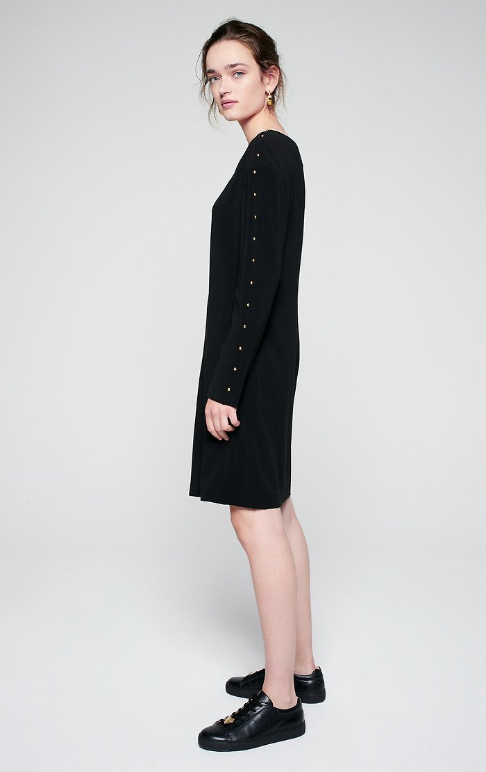 ESCADA Crepe Stud Detail Dress