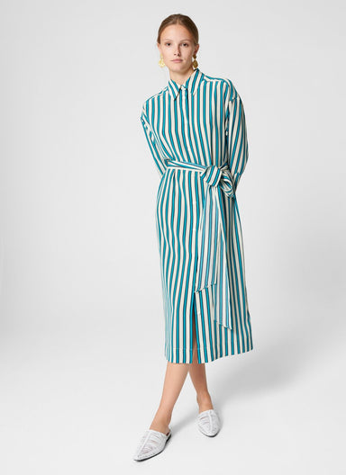 Silk Stripe Shirt Dress - ESCADA