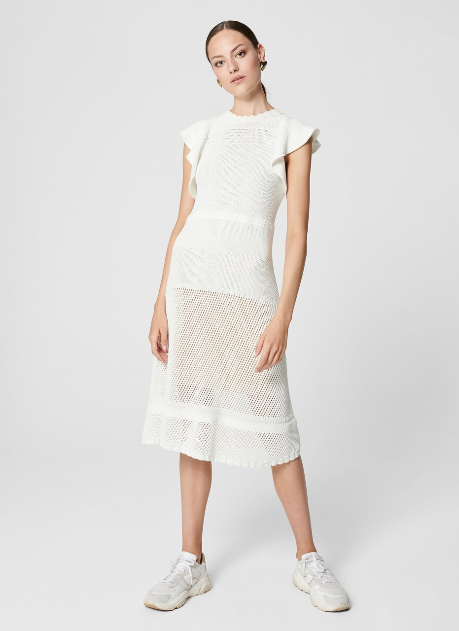 ESCADA Cotton Crochet Knit Dress