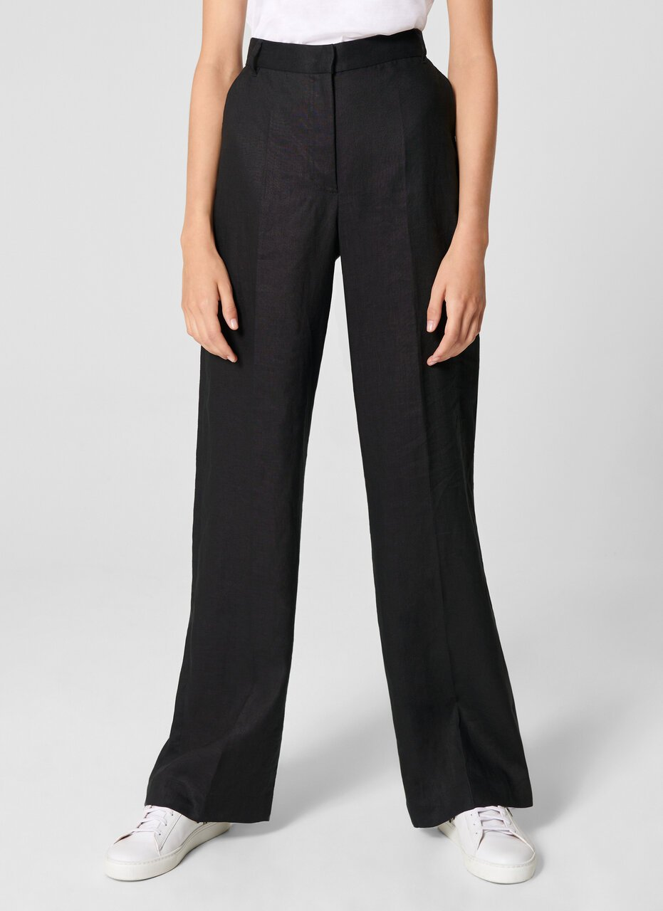 Linen Straight Pants - ESCADA ?id=15624849064068